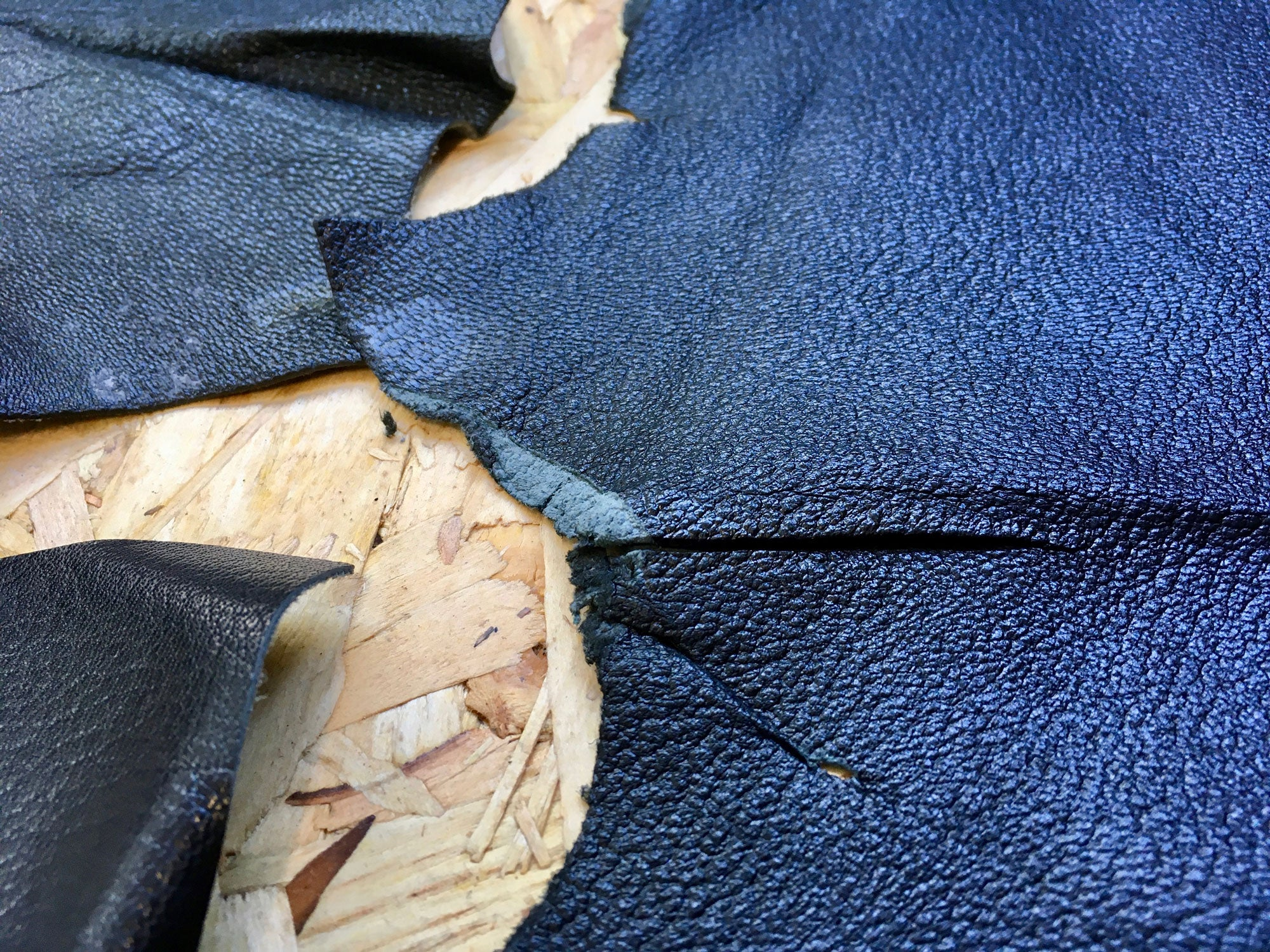 Scrap Leather Offcuts – Black Goatskin Leather Pieces