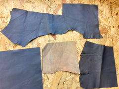 Showing back of Scrap Leather Offcuts – Grey Goatskin Leather Pieces