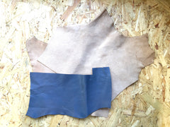 Back of Scrap Leather Offcuts – Grey Goatskin Leather Pieces