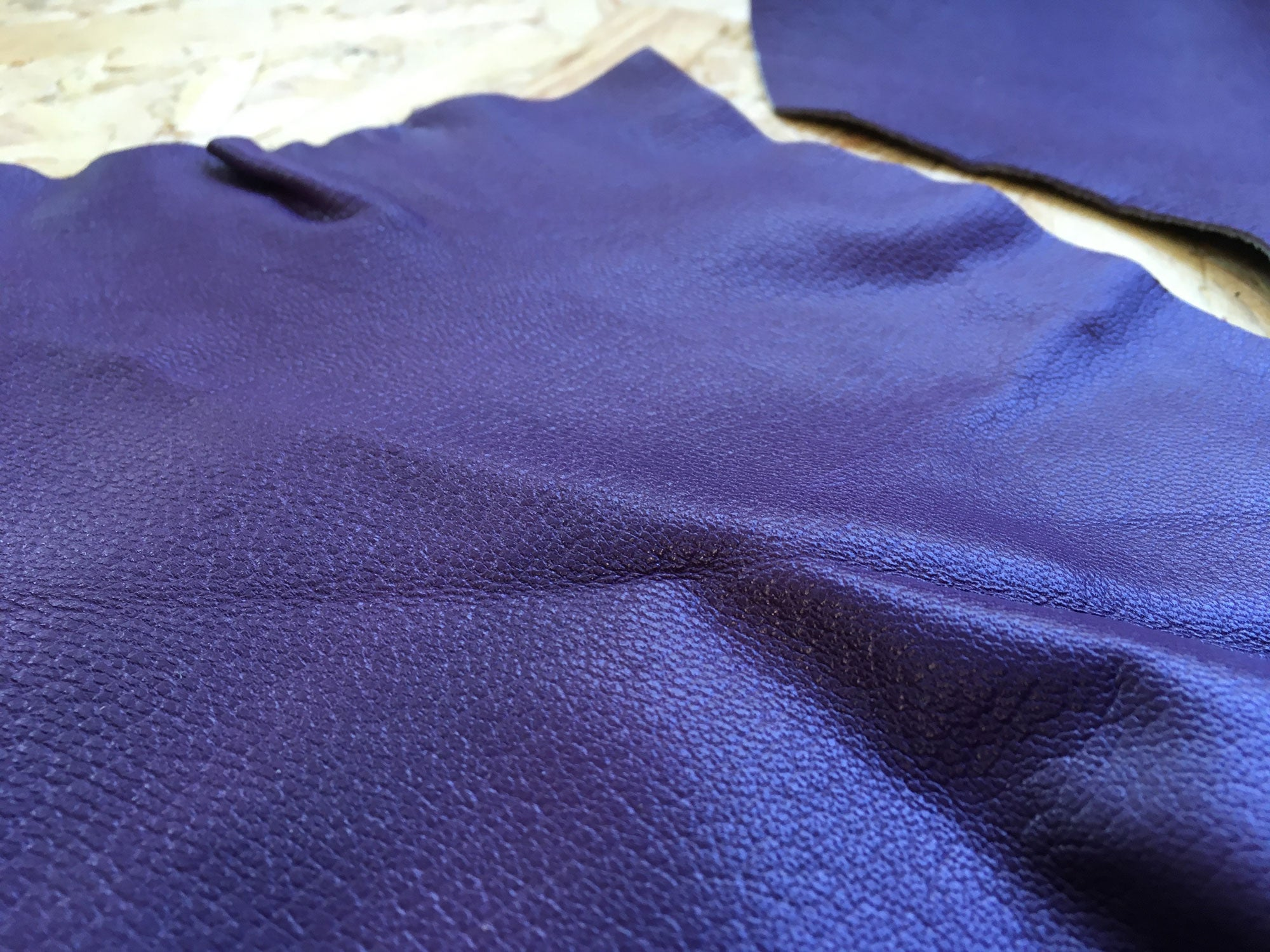 Scrap Leather Offcuts – Purple Goatskin Leather Pieces
