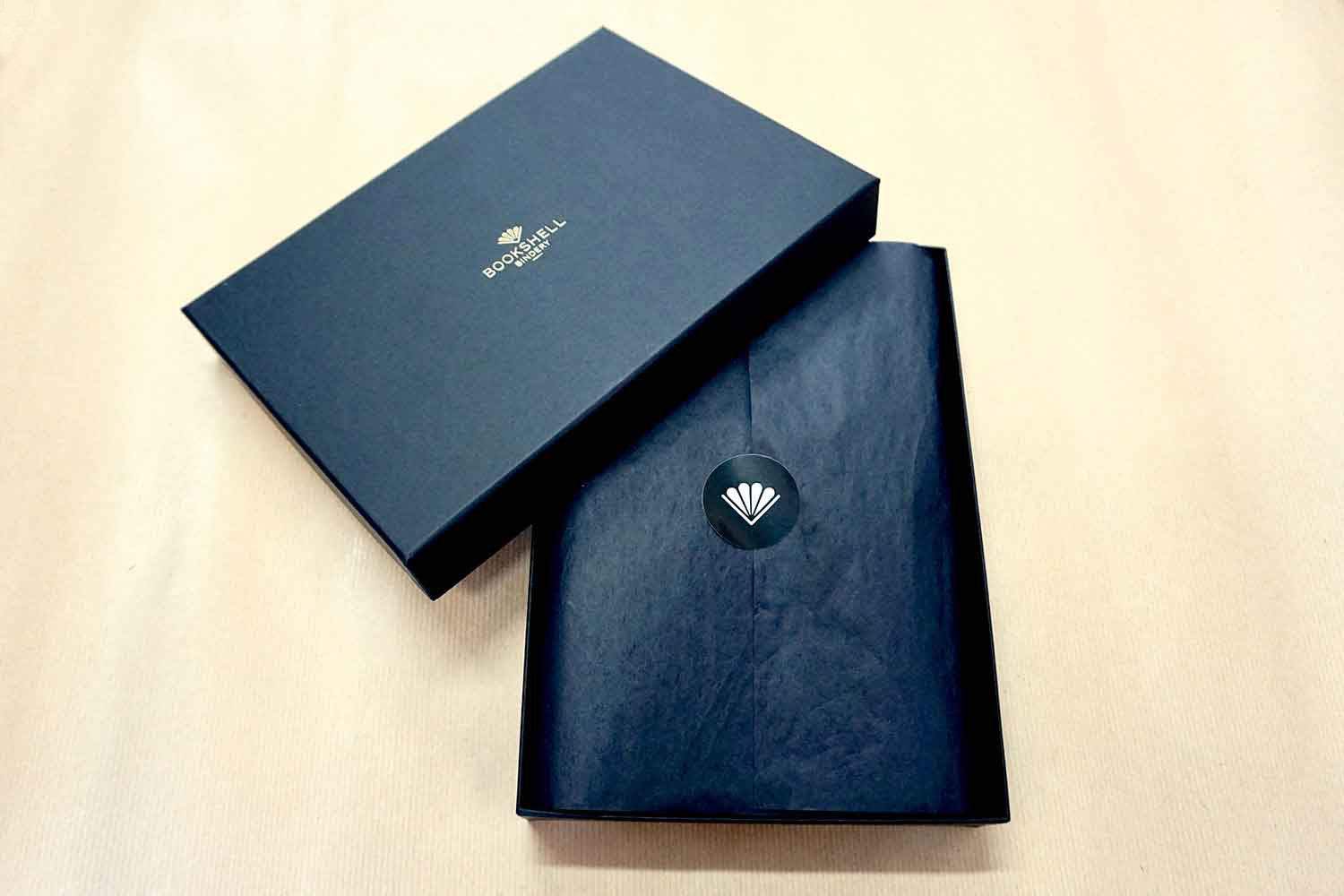 Leather iphone case from Bookshell arrives ready to gift in beautiful packaging