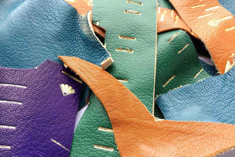Leather scrap mixed colours indian goatskin