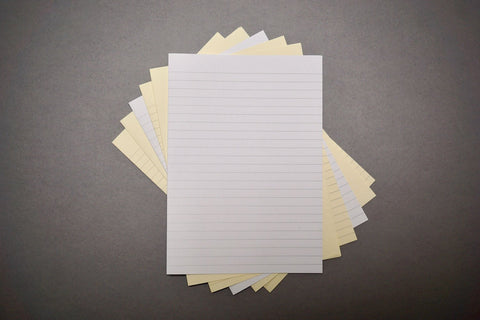 A3 and A4 lined paper for bookbinding from Bookshell Bindery
