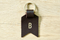 Monogram keychain from Bookshell bindery monogrammed with 1 initial