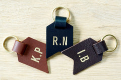 Monogram keychain from Bookshell bindery monogrammed with 2 initials