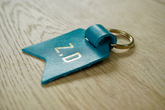 Mum keychain from Bookshell Bindery monogrammed with 2 initials