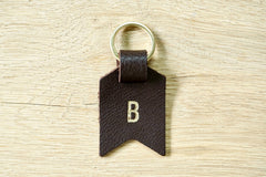 Personalised Daddy keyring from Bookshell Bindery monogrammed with 1 initial