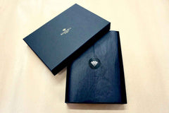 Personalised leather phone case from Bookshell arrives ready to gift in beautiful packaging