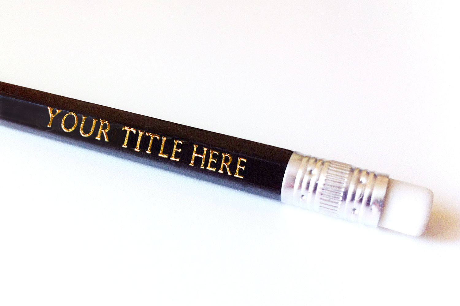Personalised pencils with your title here