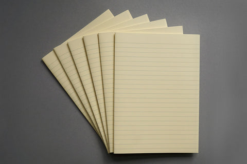 Short grain bookbinding paper, lined, in cream and white from Bookshell