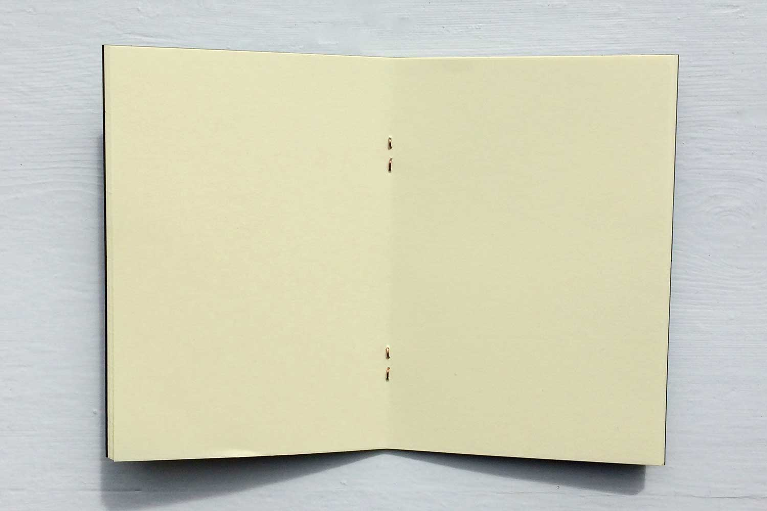 Small pocket notebook set from Bookshell Bindery, cream blank pages