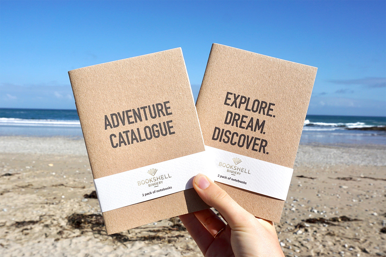 Travel notebook from Bookshell, Explore Dream Discover and Adventure Catalogue