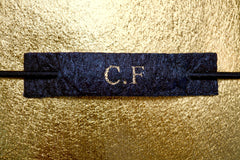 Personalise with your own monogram, embossed in gold foil