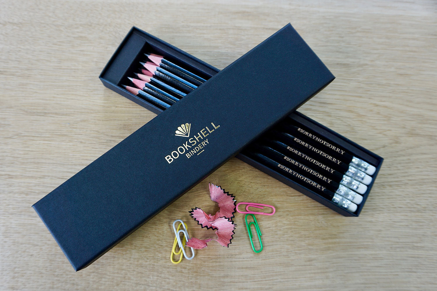 Engraved pencils from Bookshell