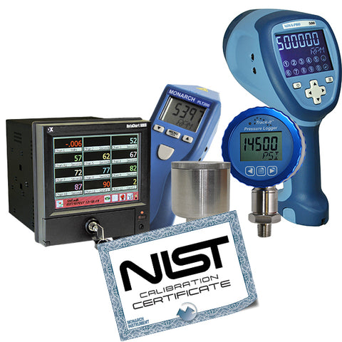 Monarch Instruments offer NIST Certificate of Calibration