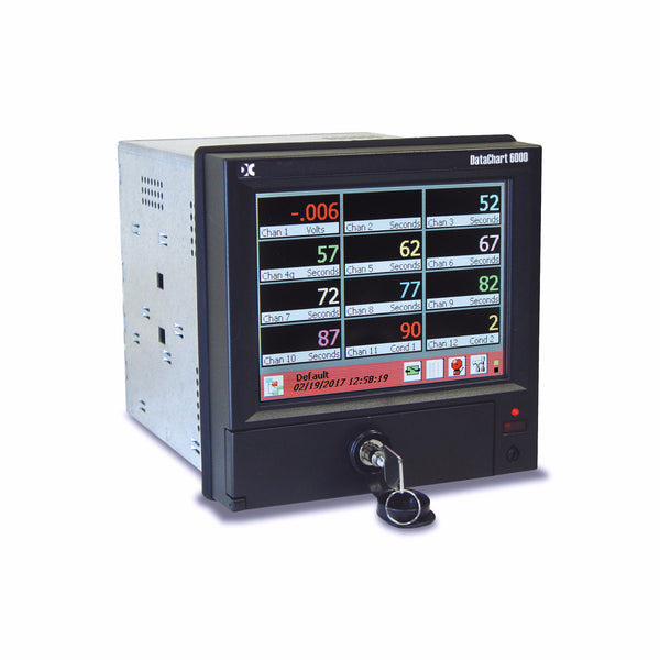 DataChart® DC6000 Advanced Paperless Data Acquisition System 12 digital panel meter display - Monarch Instrument
