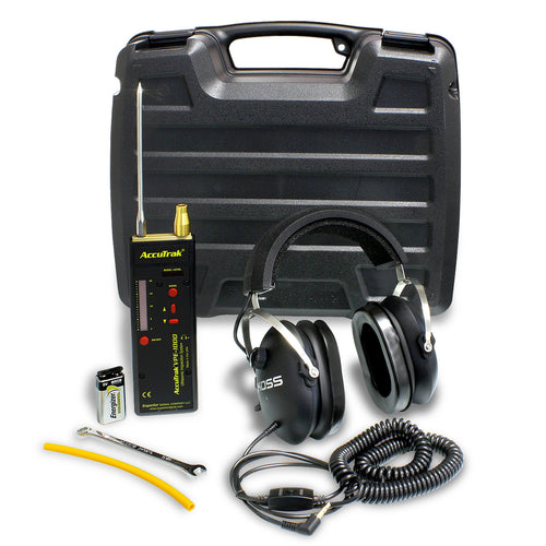 VPE 1000 Ultrasonic Leak Detector Kit Case Closed with Tool and Accessories Shown - Monarch Instrument