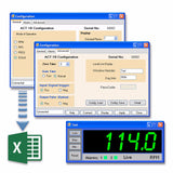 PM Remote Software Menu Layout with Real Time PC Display . Also shows data export capbility.