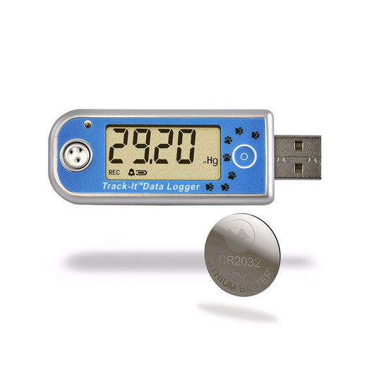 Track-It™ Barometric/Temperature Data Logger with CR2032 Coin Cell Battery - Monarch Instrument