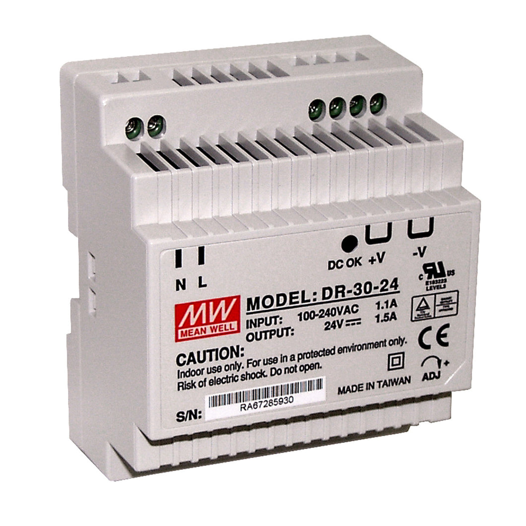 DIN Rail 24Vdc Power Supply - Monarch Instrument