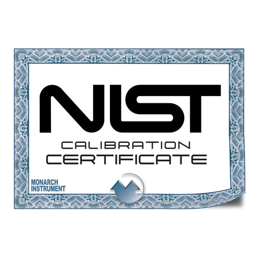 N.I.S.T Traceable Certificate of Calibration Documentation for DC2000 - Monarch Instrument