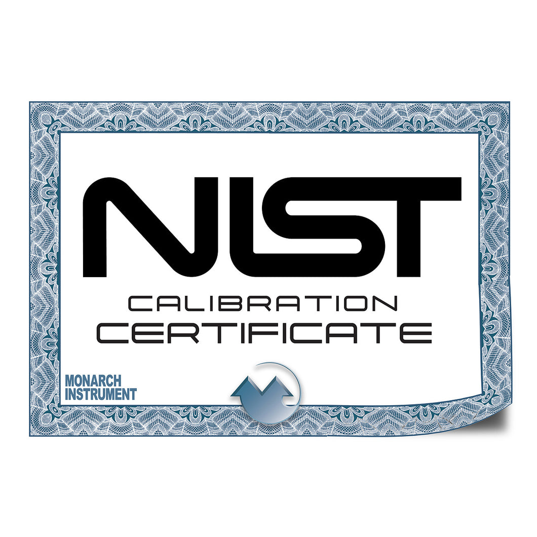 N.I.S.T Traceable Certificate of Calibration Documentation for DC2000
