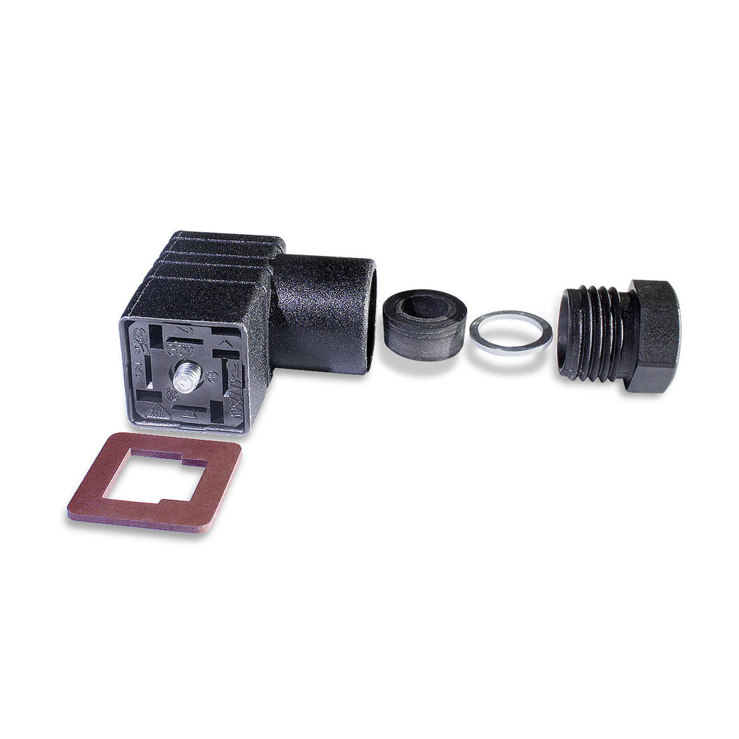 Replacement DIN 46350 Mating Plug and Gasket for Pressure Transmitter/Data Logger - Monarch Instrument