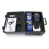 Palm Strobe X Pocket-Size Portable Stroboscope Open Kit Case shown with Contents