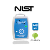 Track-It™  RFID Temp/Humidity Data Logger with NFC, Android and NIST logos- Monarch Instrument