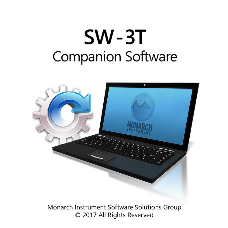 SW-3T Companion Software Laptop graphic - Monarch Instrument