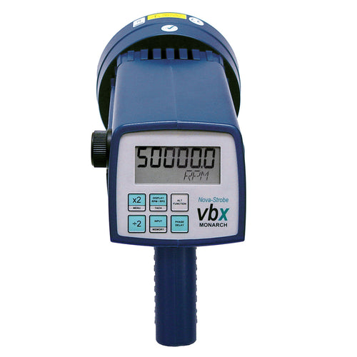 VBX Vibration Strobe Portable Stroboscopes Display and Keyboard View - Monarch Instrument