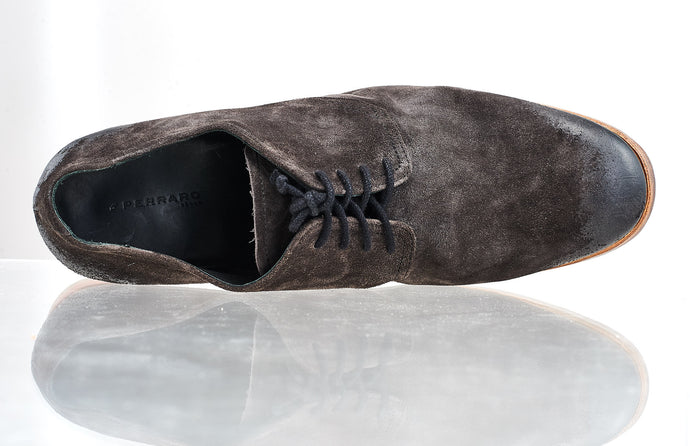 PERRARO Wash leather shoes #grey