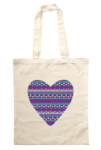 Aztec Heart - Tote Bag