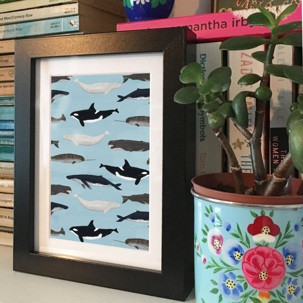 Whales • Framed Mini Print