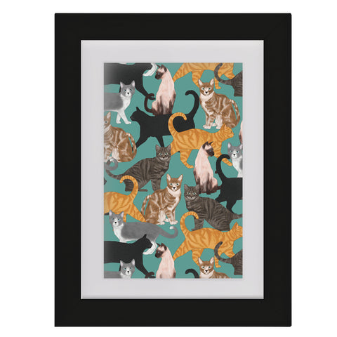 Cats • Framed Mini Print