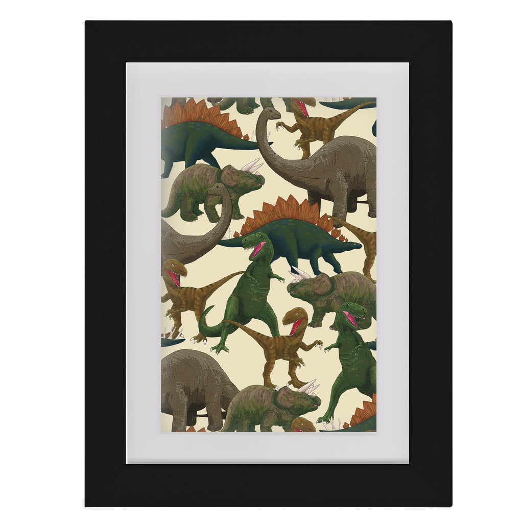 Dinosaurs • Framed Mini Print