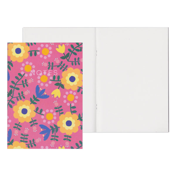 Folk Flowers - Mini Notebook