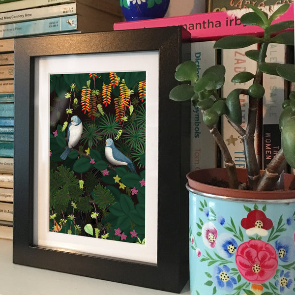 Jungle Birds • Framed Mini Print