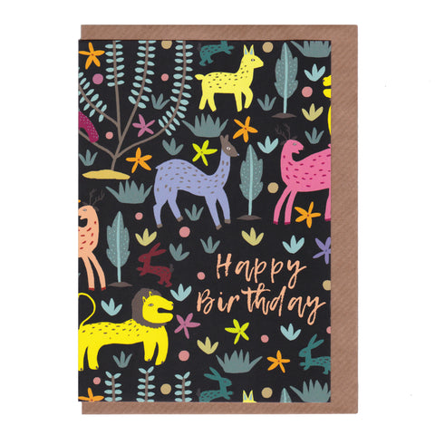 Happy Birthday (The Lion and the Hare) - Greetings Card