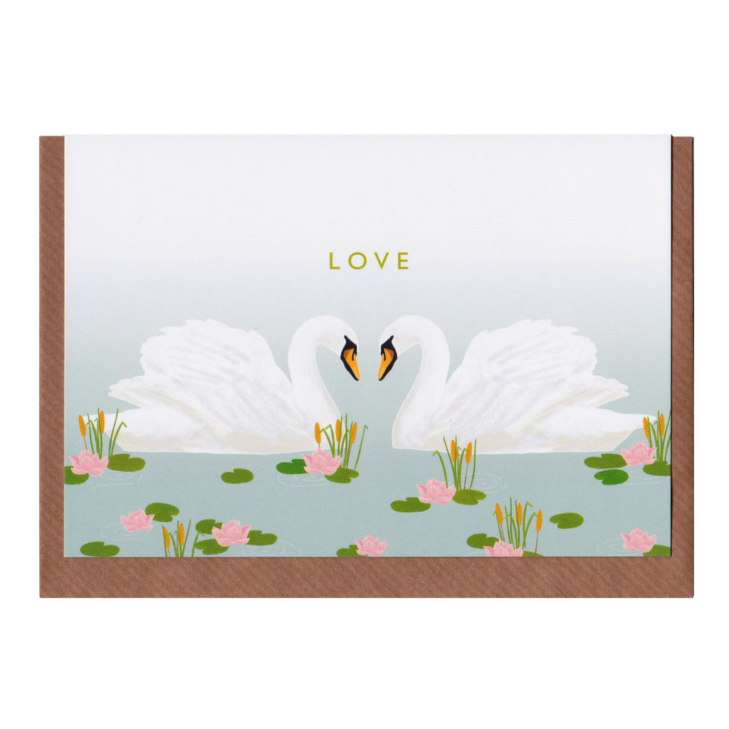 Swan - Greetings Card