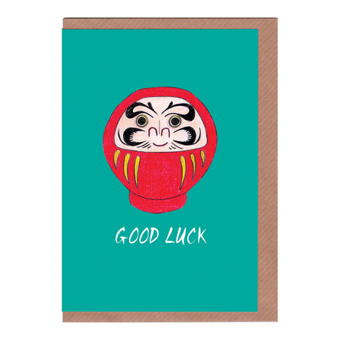 Good Luck (Daruma)  - Greetings Card
