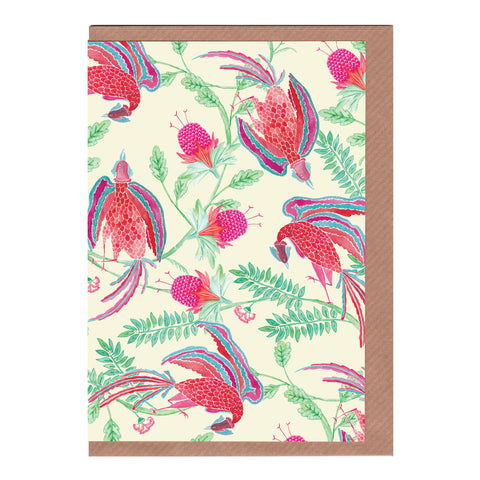 Emperor's Garden (Ivory) - Greetings Card