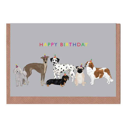Happy Birthday Dogs - Greetings Card