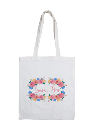 Floral - Personalised Tote Bag