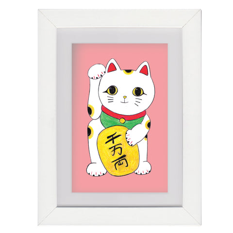 Maneki Neko - Framed Mini Print