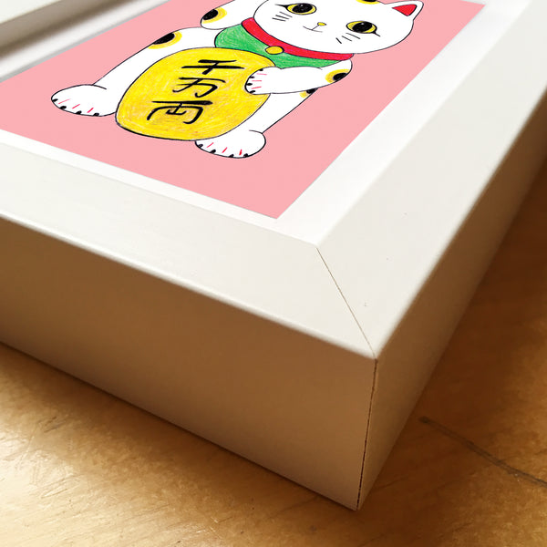 Maneki Neko • Framed Mini Print