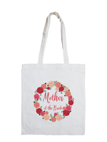 Peach Flowers - Personalised Tote Bag