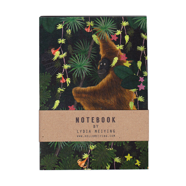 Pack of Four Jungle Notebooks