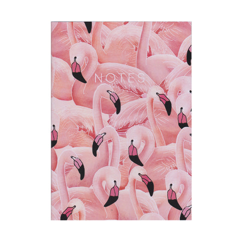A Flamboyance of Flamingos - Mini Notebook