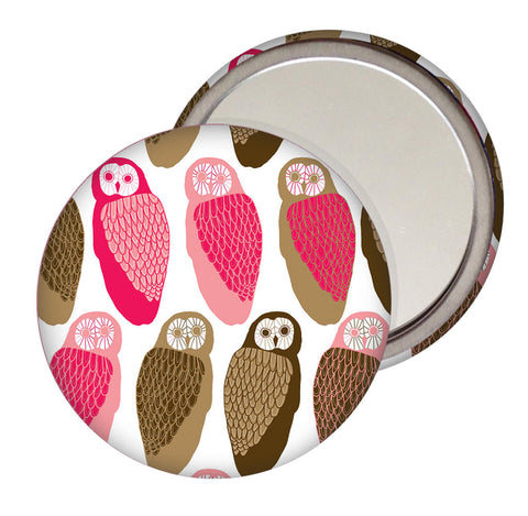 Owls Pocket Mirror
